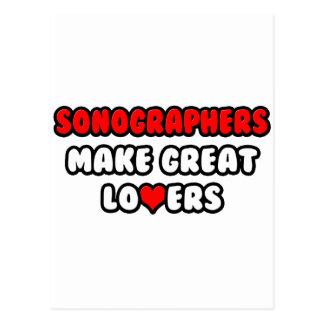 Sonographers Make Great Lovers Postcard