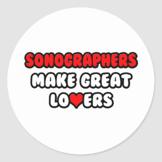 Sonographers Make Great Lovers Classic Round Sticker