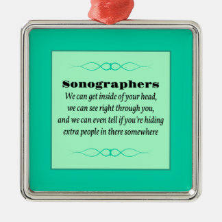 Sonographers Metal Ornament
