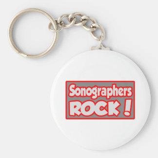 Sonographers Rock! Key Chains