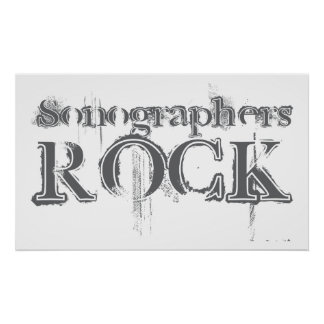 Sonographers Rock Poster