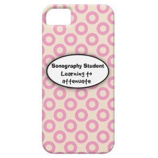 Sonography Student iPhone 5 Case Pink Circles