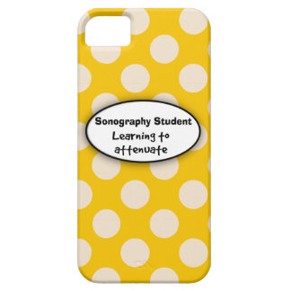 Sonography Student iPhone 5 Case Yellow Polka Dots