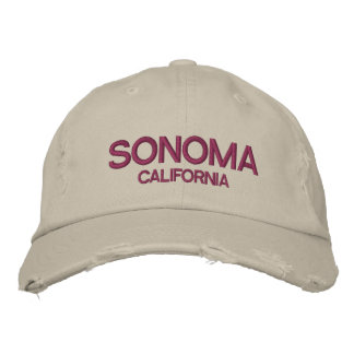 Sonoma California Distressed Baseball Cap
