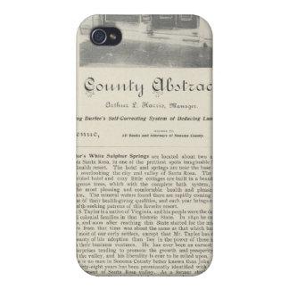 Sonoma County Abstract Bureau, California iPhone 4/4S Case