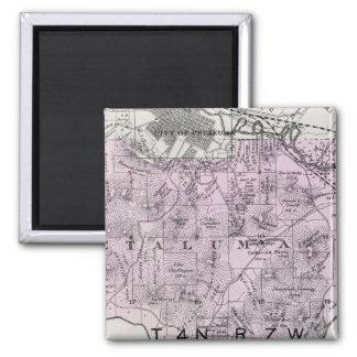 Sonoma County, California 11 2 Inch Square Magnet