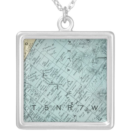 Sonoma County, California 13 Silver Plated Necklace