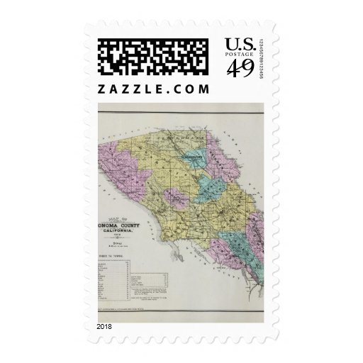 Sonoma County, California 18 Postage