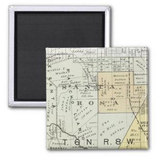 Sonoma County, California 22 2 Inch Square Magnet