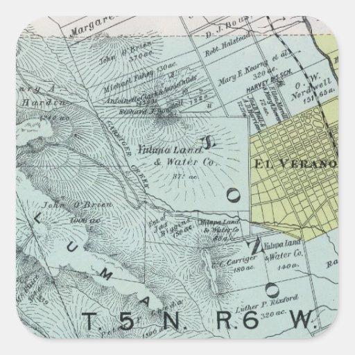 Sonoma County, California 26 Square Sticker