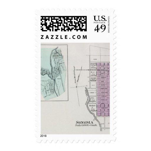Sonoma County, California 28 Stamps