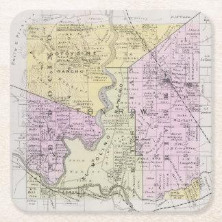 Sonoma County, California 2 Square Paper Coaster