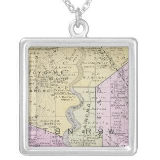 Sonoma County, California 2 Square Pendant Necklace