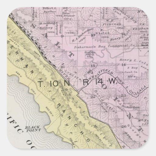 Sonoma County, California 34 Square Sticker