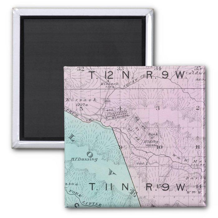 Sonoma County, California 6 2 Inch Square Magnet