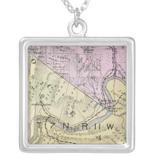 Sonoma County, California 8 Silver Plated Necklace