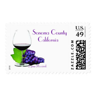 Sonoma County California wine country Postage Stamps