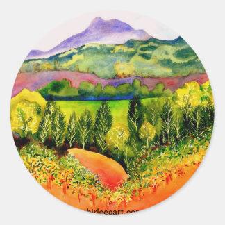 Sonoma County Vineyard Classic Round Sticker