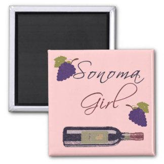 Sonoma Girl 2 Inch Square Magnet