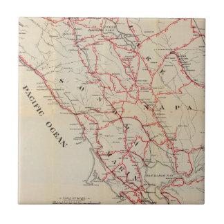 Sonoma, Marin, lago, y condados de Napa Azulejo Cuadrado Pequeño