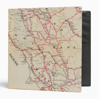 """Sonoma, Marin, lago, y condados de Napa Carpeta 1 1/2"""""""
