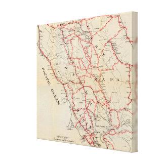 Sonoma, Marin, lago, y condados de Napa Impresion De Lienzo