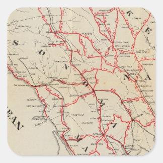 Sonoma, Marin, lago, y condados de Napa Pegatina Cuadradas Personalizadas