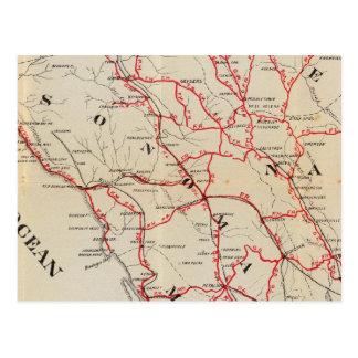 Sonoma, Marin, lago, y condados de Napa Postal