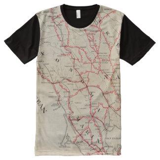 Sonoma, Marin, Lake, and Napa Counties All-Over Print T-shirt