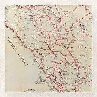Sonoma, Marin, Lake, and Napa Counties Glass Coaster