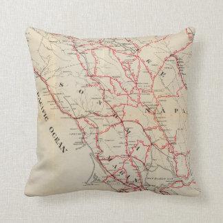 Sonoma, Marin, Lake, and Napa Counties Throw Pillow