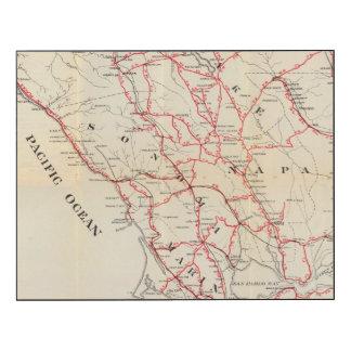 Sonoma, Marin, Lake, and Napa Counties Wood Print