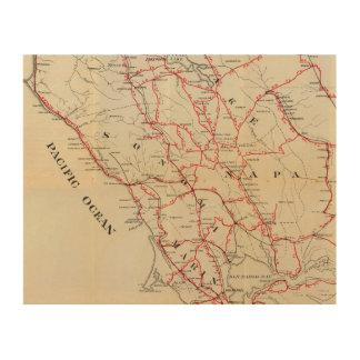 Sonoma, Marin, Lake, and Napa Counties Wood Wall Art