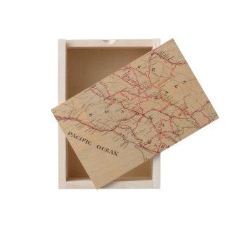 Sonoma, Marin, Lake, and Napa Counties Wooden Keepsake Box