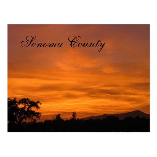 Sonoma Sunset 3 Postcard