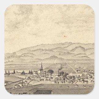 Sonoma y sociedad agrícola del distrito de Marin Pegatinas Cuadradas