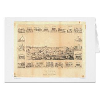 Sonora, mapa panorámico 1854 (1647A) del CA - Unre Tarjetas