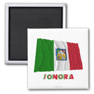 Sonora Waving Unofficial Flag 2 Inch Square Magnet