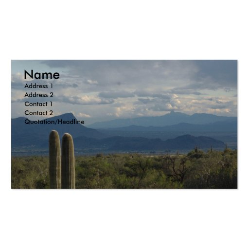 Sonoran Desert Business Cards