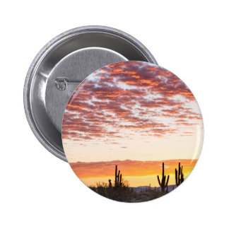 Sonoran Desert Colorful Sunrise Morning Pinback Button