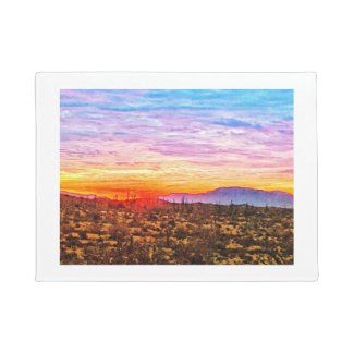 Sonoran Desert Evening Doormat
