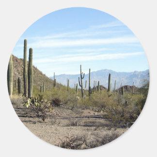 Sonoran desert scene 02 round stickers