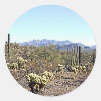 Sonoran Desert scene 04 Round Stickers