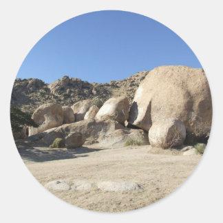 Sonoran Desert scene 10 Round Sticker