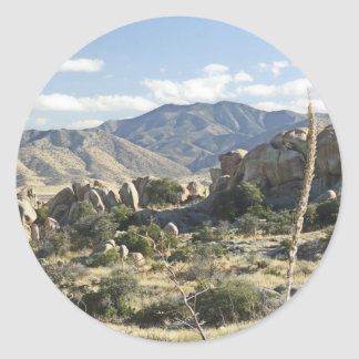 Sonoran Desert scene 12 Round Stickers