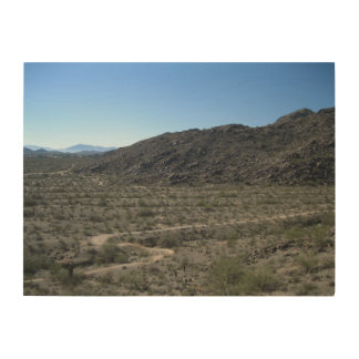 Sonoran Desert Wood Print