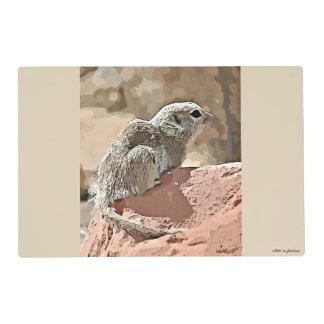 Sonoran Ground Squirrel in Cartoon Place Mats