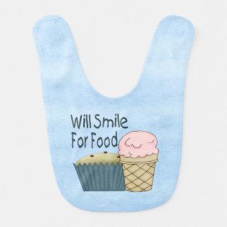 Sonreirá para la comida baberos para bebé