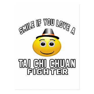 Sonría si usted ama el combatiente de la JI CHUAN Tarjetas Postales