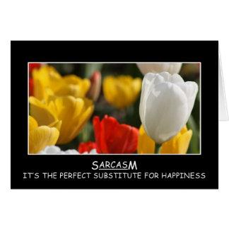Sonría y haga que el mundo se pregunta sobre su al tarjeta de felicitación